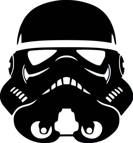 Star Wars Stormtrooper vinyl sticker decal car caravan laptop 10cm x 9cm