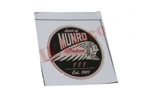 Pair-Spirit-of-Munro-Indian-Motorcycle-111-Est-1901-Round-Sticker-Decal-Set-AUD