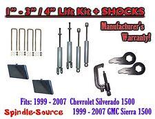 """99-06 CHEVY GMC 1500 Silverado Sierra CREW CAB 1 - 3"""" Keys / 4"""" Kit SHOCKS TOOL"""