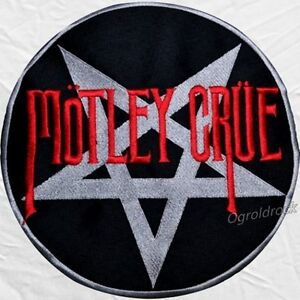 Details about Motley Crue Shout at the Devil Logo Embroidered Big Patch  Rock Band Nikki Sixx