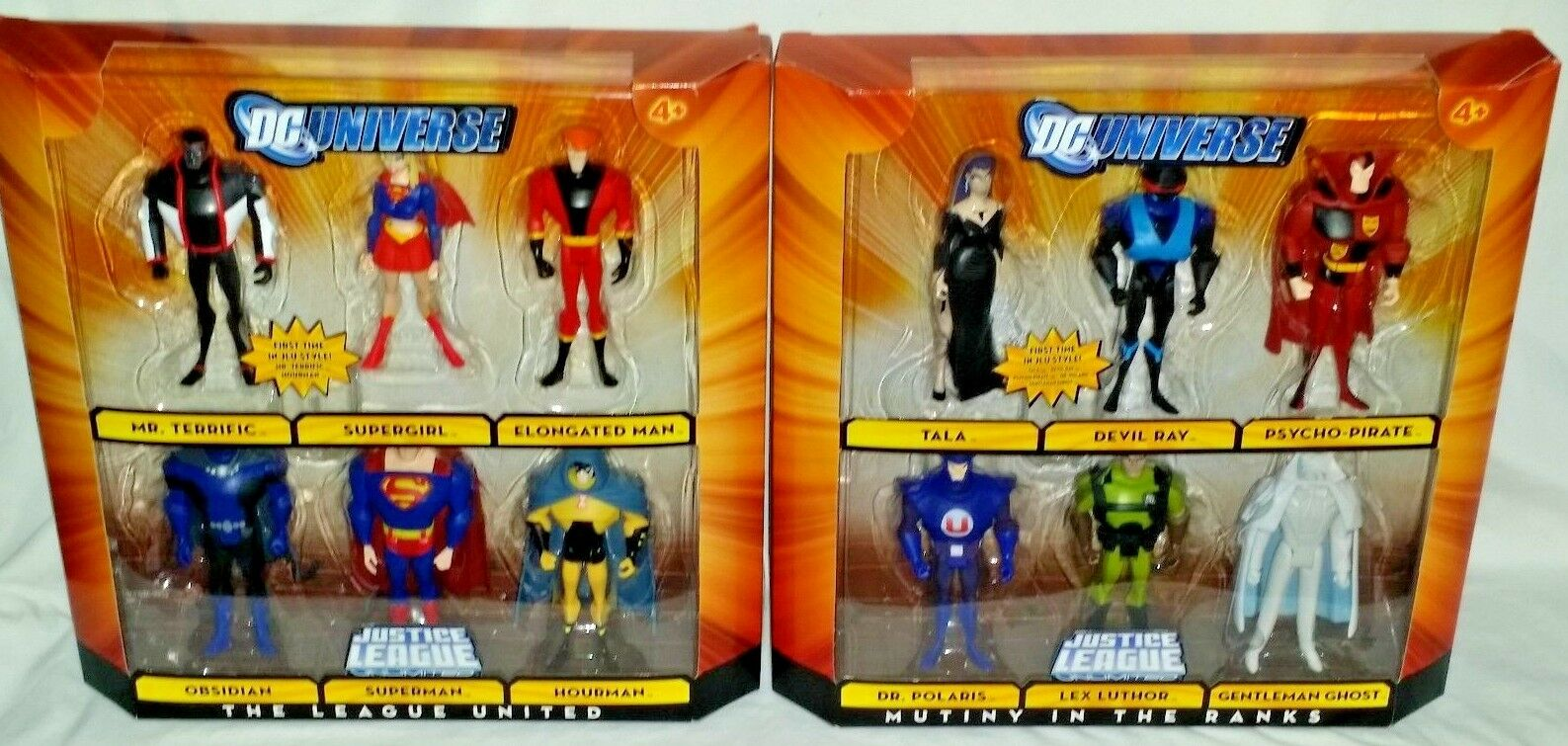 MATTEL DC Universe JUSTICE LEAGUE UNLIMITED JLA United & Mutiny Ranks figure set