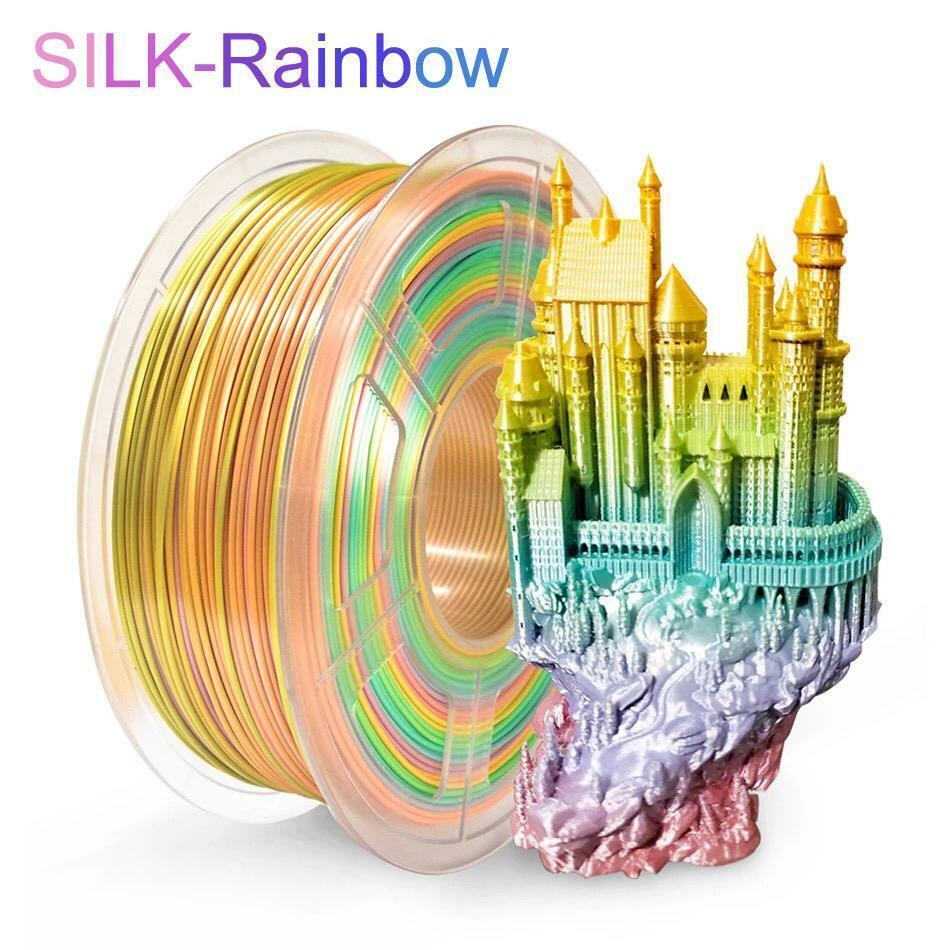 SUNLU Silk PLA Filament 1.75mm PLA SILK Rainbow color 3D Printer Filament