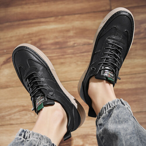 Mens Fashion Sneakers Shoes Outdoor Boards Running Sports Non-slip Walking Flats