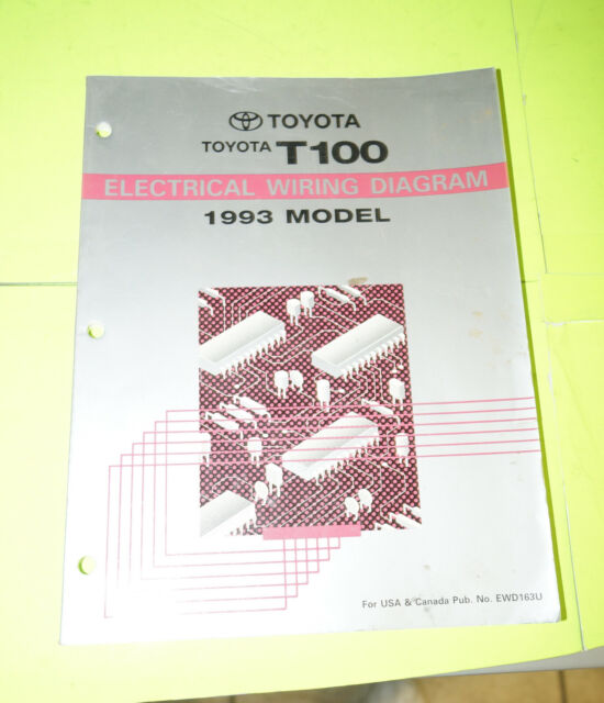 1993 Toyota T100 Oem Evtm Electrical Wiring Diagram