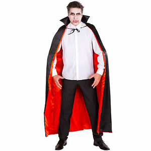 Vampir Umhang Herren Damen Kostum Karneval Fasching Halloween