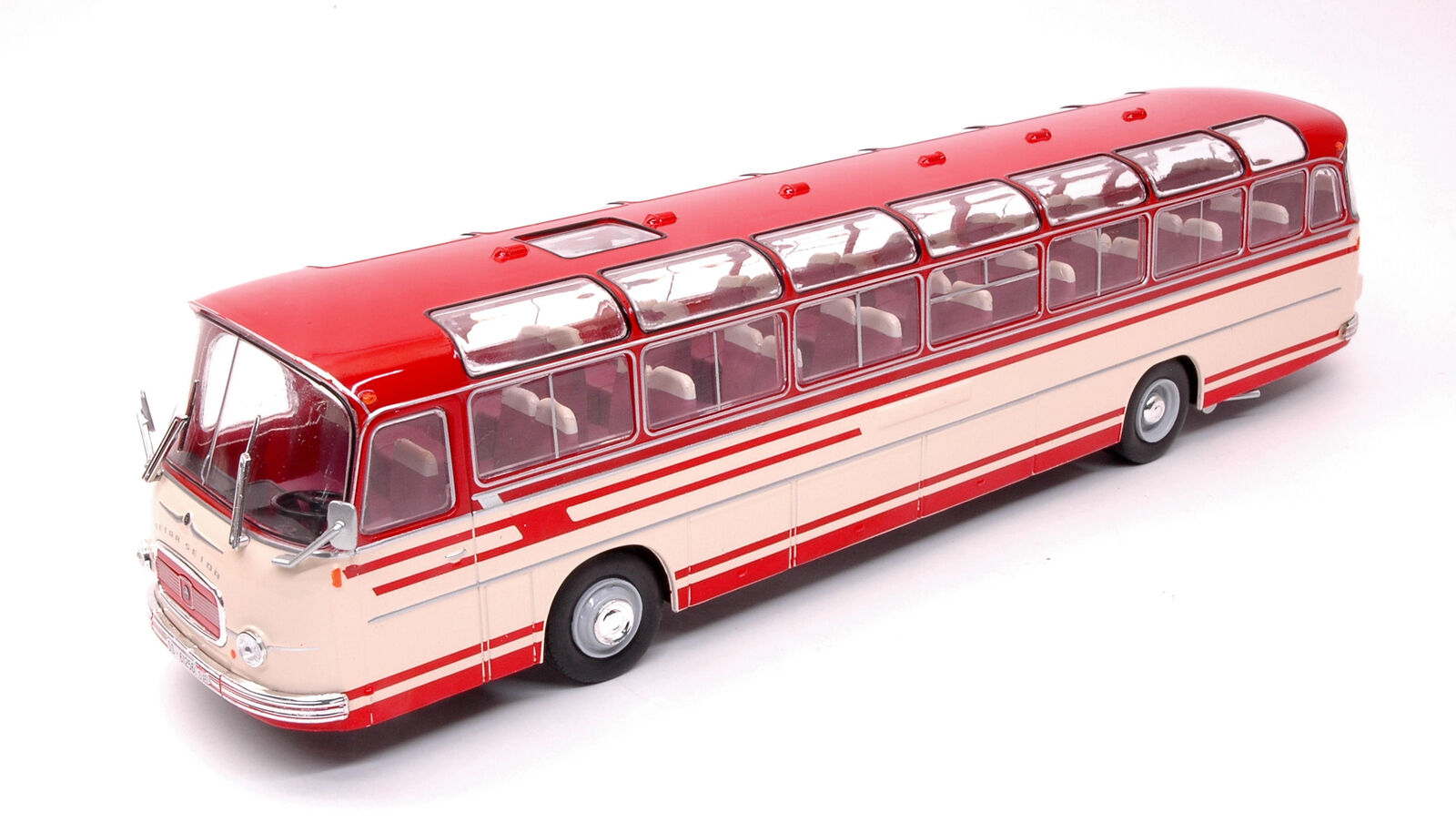 Setra S14 1966 Red   Beige Bus 1 43 Model IXO MODEL