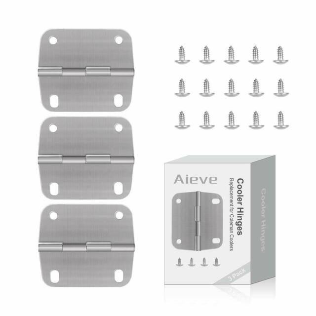 Set of 3 and 12 Screws Igloo Cooler Replacement Plastic//Stainless Steel Hybrid