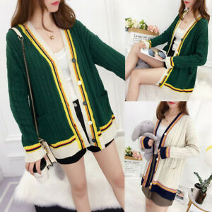 Autumn-Winter-Women-Cardigan-Oversize-Chunky-Knitted-Sweater-Coat-Jacket-Outwear