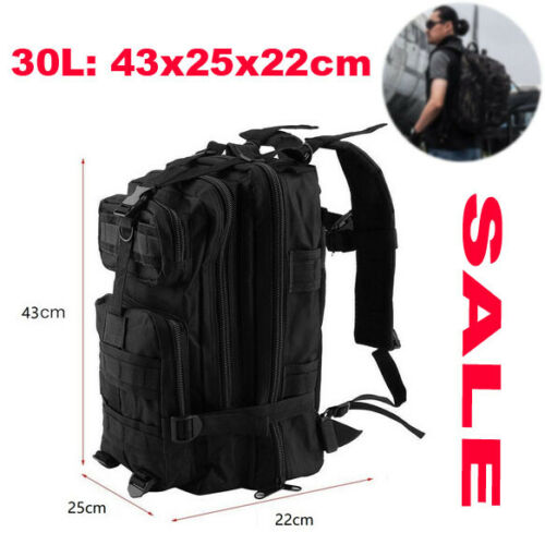 Military Army Tactical Backpack Rucksacks Molle Camping Hiking Laptop Bag 30L