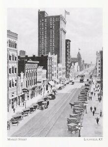 Postcard-034-Market-Street-034-Business-039-s-Line-Up-abt-1918-Louisville-KY-A44-1
