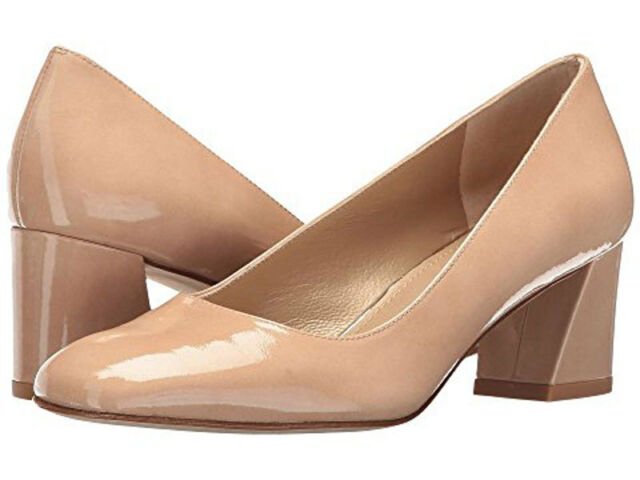 f63fd49db828 Stuart Weitzman Marymid Nude Patent Leather Pump Size 38.5 for sale ...