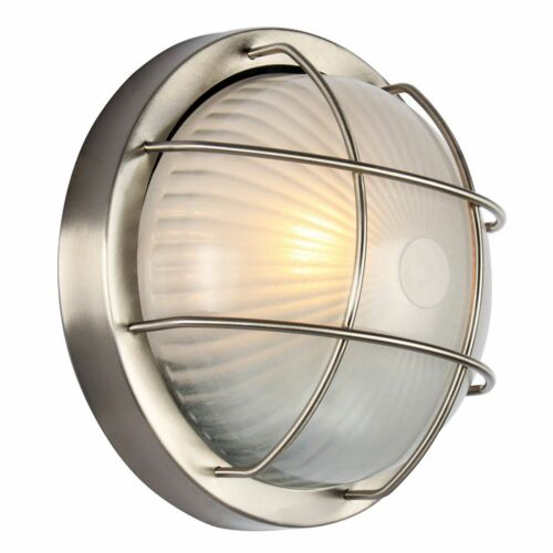 Stainless Steel Aluminium Outdoor Bulkhead Wall//Ceiling Light by Happy Homewares