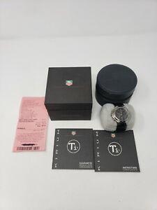 TAG-HEUER-KIRIUM-CL1180-BLACK-Ti5-TITANIUM-CHRONOGRAPH-MENS-WATCH-w-New-Battery