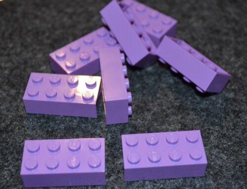 8 2x4 Medium Lavender Standard Brick Bricks ~ Lego ~ NEW