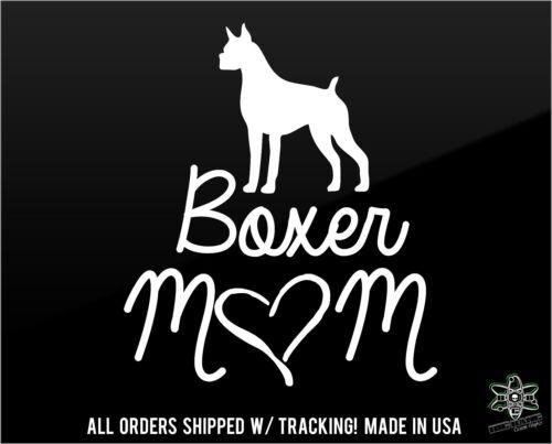 Boxer Mom Vinyl Decal Sticker Car window QUALITY Die Cut I Love my Dog Child 8x7