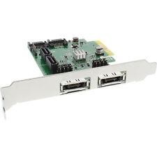 InLine PCI-EXPRESS-SCHEDA SATA 4x 6gb/s, RAID 0,1,10, JBOD + 2x eSATA