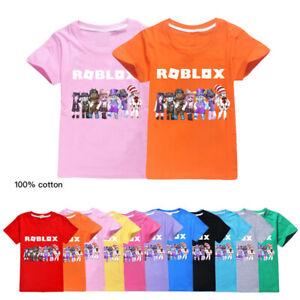New Roblox Boys Girls Short Sleeve T Shirts Cotton Tops Tee Shirts 2020 New Boys Girls Roblox 100 Cotton Summer Casual Short Sleeve T Shirt Tops Ebay