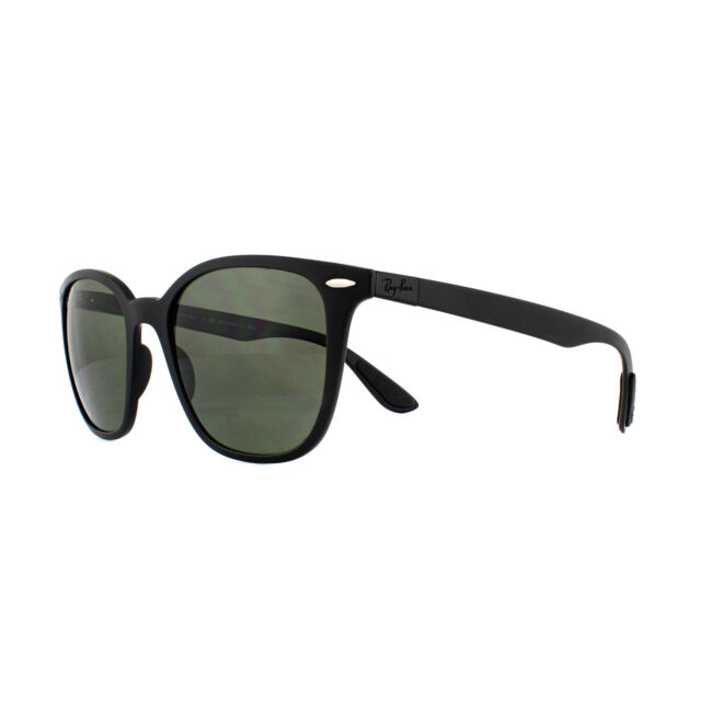 6a4a3fcf84d Ray-Ban RB 4297 601s9a Matte Black Plastic Sunglasses Green ...