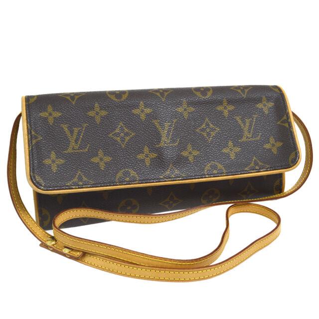 Louis Vuitton Pochette Twin Gm Monogram Authentic Crossbody Shoulder Bag