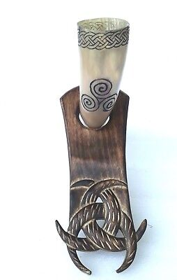 Horse Viking Buffalo Drinking Horn Norse Carved Pagan Celtic Thrones Beer