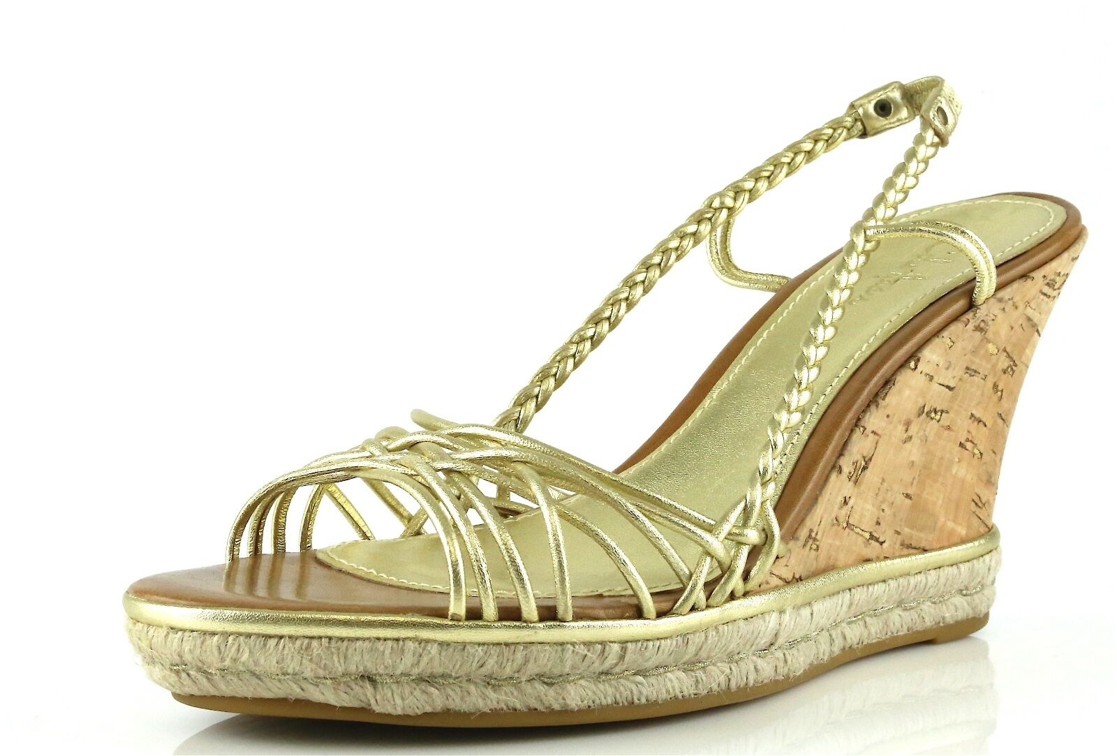 Cole Haan ANDRA Sahara gold Wedge Sandals 8985 Size 10 B NEW