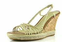 Cole Haan Andra Sahara Gold Wedge Sandals 8893 Size 9.5 B