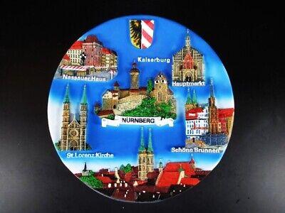 Koblenz Deutsches Eck Souvenir Teller Germany,Wandteller Polyresin,19,5cm,NEU