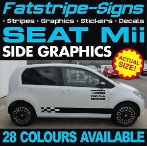 seat mii graphics stripes stickers decals 1 0 sport vinyl. Black Bedroom Furniture Sets. Home Design Ideas