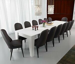Tavolo Da Pranzo Consolle Allungabile 3 Metri 14 Posti Bianco Salvaspazio Cucina Ebay