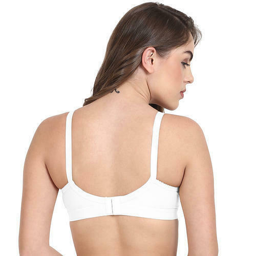 Details about  /Women/'s Solid Cotton Soft and Light Weight Comfortable White Casual Wear Bra