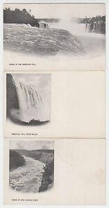 B7637 : (3) 1890's Niagara Chutes Cartes Postales, non Utilisé