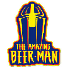 "The Amazing Beer-Man Beer Alcohol Funny Drunk car bumper sticker decal 5"" x 4"""
