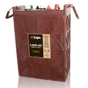 BATTERY-TROJAN-L16H-AC-6-VOLT-435-AH-20-HR-RATE-FLOODED-DEEP-CYCLE-EACH