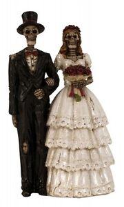 Hochzeitspaar-Gothic-Brautpaar-Hochzeit-Tortenfigur-Deko-Figur-Hochzeitsfigur