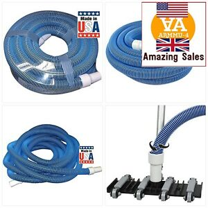 NEW PREMIUM 33430 Heavy Duty In-Ground Pool Vacuum Hose With Swivel Cuff+30Ft
