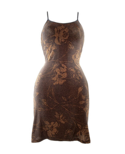 90s Y2K Mini Dress Cami Slip Mesh Stretch Bodycon
