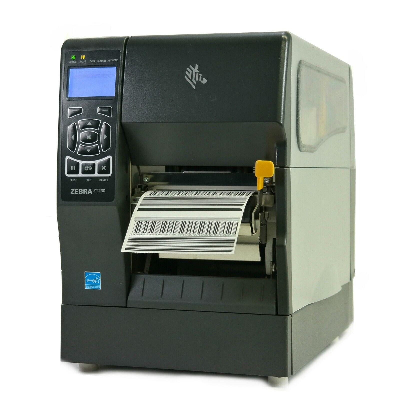 Zebra ZT410 Direct Thermal Label Printer 123100-210 Peeler