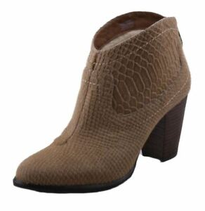 Ugg-Charlotte-Women-039-s-Snake-Moon-Leather-High-Heel-Ankle-Boots