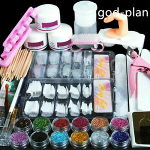 Pro-Acrylic-Nail-Art-Tool-Kit-Set-Powder-Nail-Sticker-DIY-Set-Pump-Nail-Brush