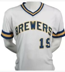 wholesale dealer 92c06 7dd13 Details about Robin Yount Milwaukee Brewers 1970s Replica Jersey Giveaway  SGA 7/8 Adult M Vtg