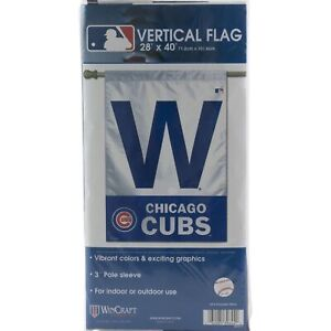 CHICAGO-CUBS-Vertical-034-W-034-Hanging-FLAG-BANNER-28-034-x40-034-Yard-Lawn-Outdoor-Indoor