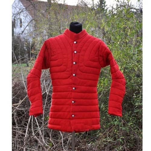 Thick Padded Medieval Red Gambeson Jacket COSTUMES DRESS SCA Aketon vest Armor