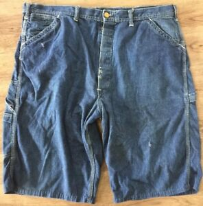 VINTAGE-1930s-1940s-LEE-Carpenter-Button-Fly-Jeans-Converted-To-Shorts