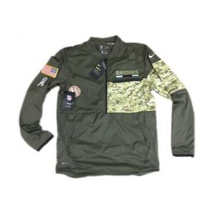 NEW NWT Oakland Raiders Nike Men s Salute To Service 1 2 Zip Jacket ... f67a865ed