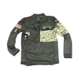 3f5ed4eb2f8 NEW NWT Oakland Raiders Nike Men's Salute To Service 1/2 Zip Jacket ...