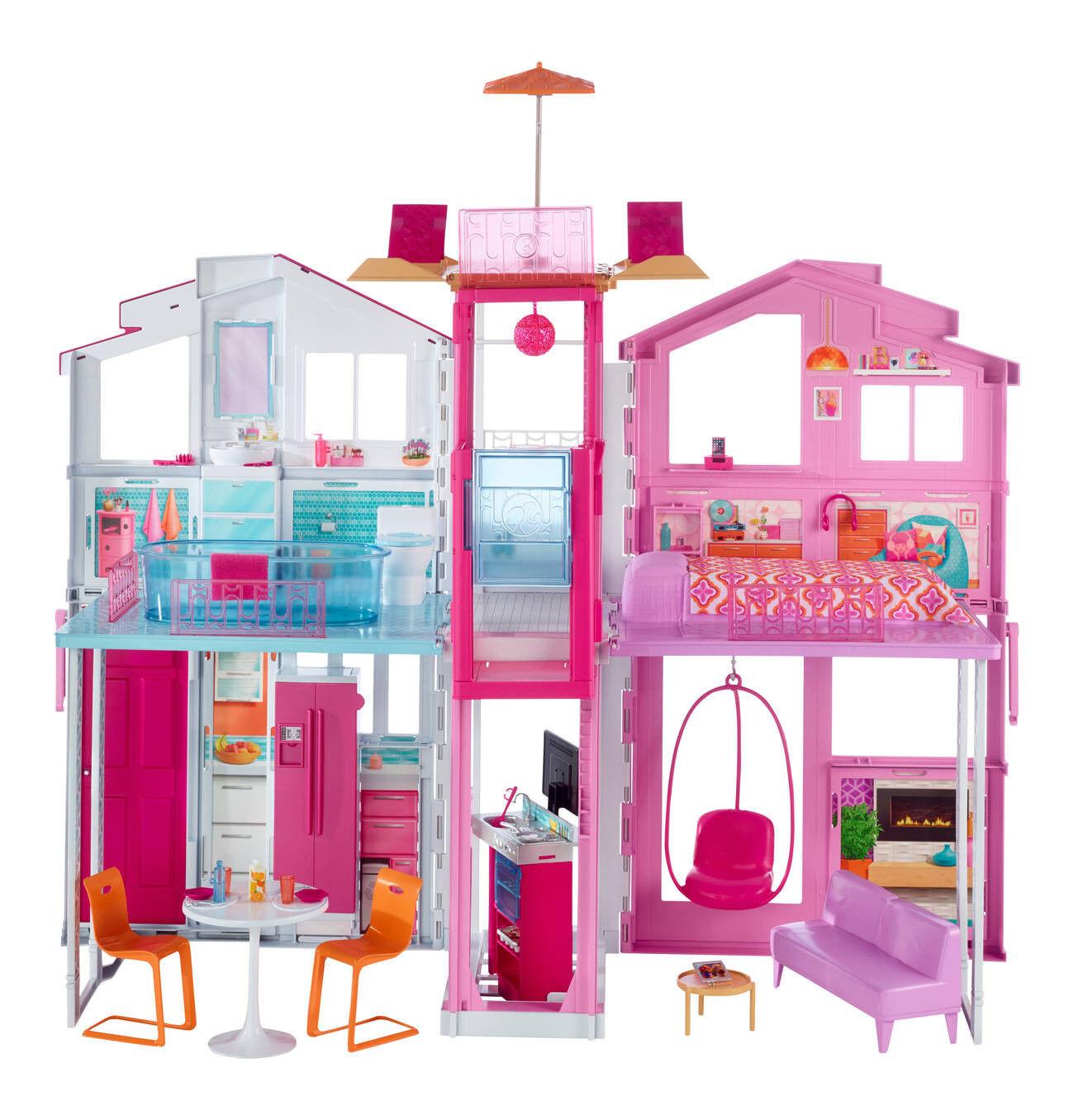 Barbie 3-Etagen Stadthaus Original Neu