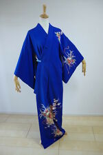 Kimono Dress Japan Japanese Gown costume used Vintage Houmongi awase KDJM-A0117