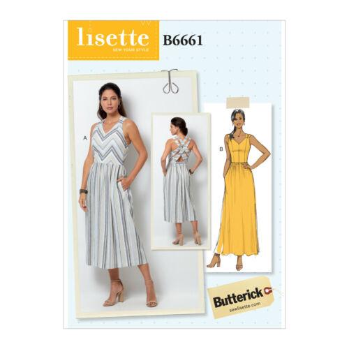 Butterick 6661 patrón de costura para hacer close-fitting vestido con construido en sujetador