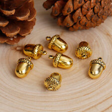 Anhänger, Eicheln, Metall, goldfarben, 17x11mm 2x