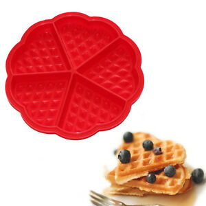 5-Cavity-Waffles-Cake-Chocolate-Pan-Stampo-in-silicone-cottura-strumento-da-LO